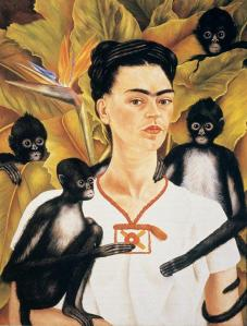 kahlo_self-portrait with monkeys