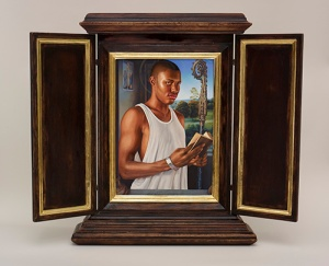 kehinde_after memlings portrait of st benedict