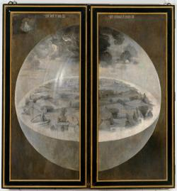 bosch.garden of earthly delights closed.creation of world