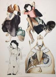 """Lolitas, watercolor, 11 x 14"""", 2014"""