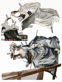 "Women's self portraits, watercolor, 11 x 14"", 2014"