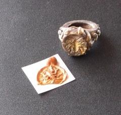 Bug seal, wax and clay, 2014.