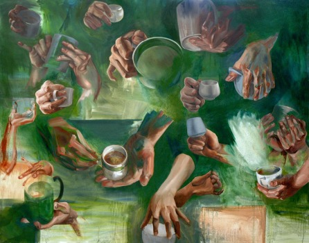 Hands, oil on canvas, 36 x 48″, 2011