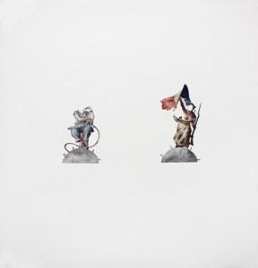 Liberté, Egalité, Fraternité, watercolor, 45 x 48″, 2014