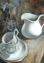 Breakfast Setting, oil on canvas, 20.5 x 30″, 2011