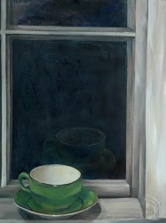 Radford Cup, oil on canvas paper, 16 x 20″, 2011