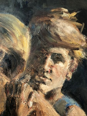 Double self-portrait detail