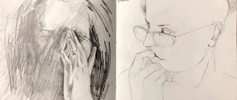 Two months of self-portraits, detail